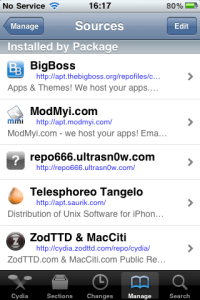 Cydia Source Packages