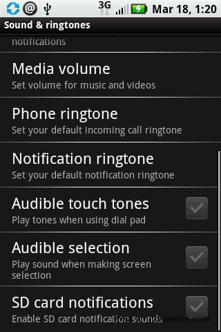 Samsung Galaxy S Touch Tones
