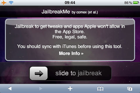 Slide to Jailbreak iPhone