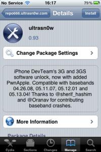 ultrasn0w iPhone Source Cydia