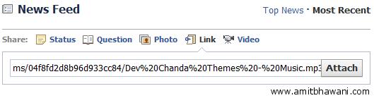 Attach Link FaceBook Update
