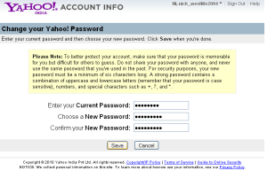 How to Change your Yahoo Messenger Password