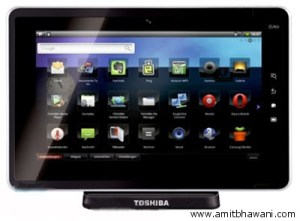 Toshiba Folio 100 Media Tablet Features & Specifications