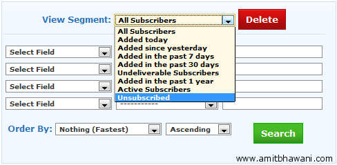Unsubscribed Email Address