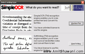 OCR Software to Convert handwritten Image files into Text