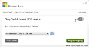 Windows USB DVD Insert USB Device