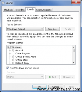 Choosing Your System Sounds in Windows 7