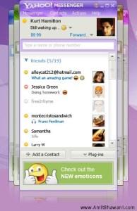 Yahoo Messenger 9.0 friend happy design