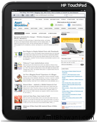HP TouchPad Tablet – Features & Specifications