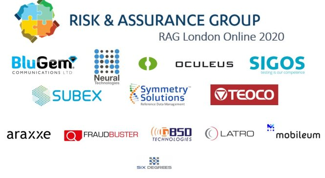 The sponsors of RAG London 2020