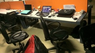 My desk at the time