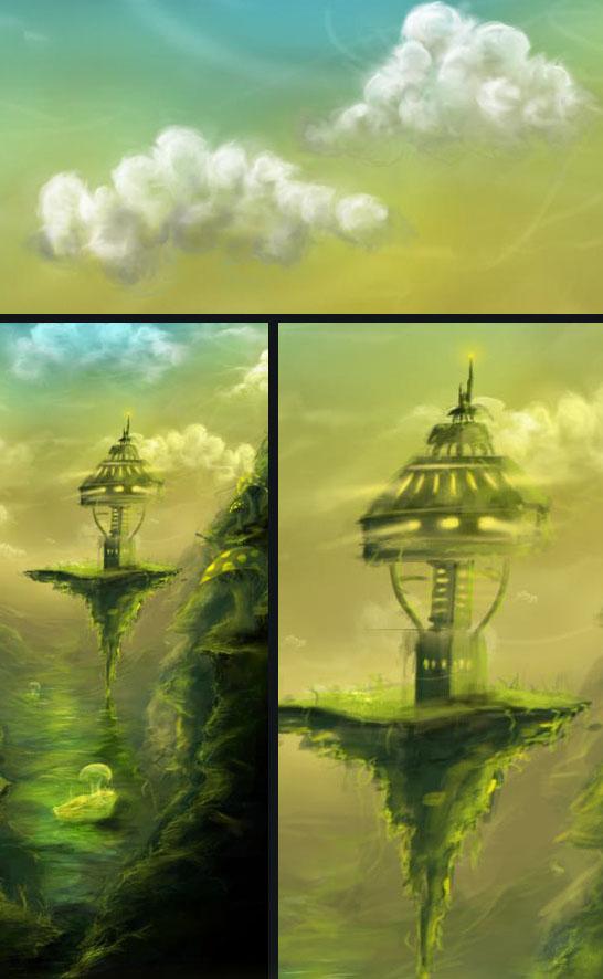 Digital Painting Tutorial clouds