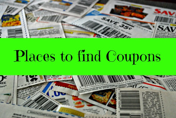 places to find coupons