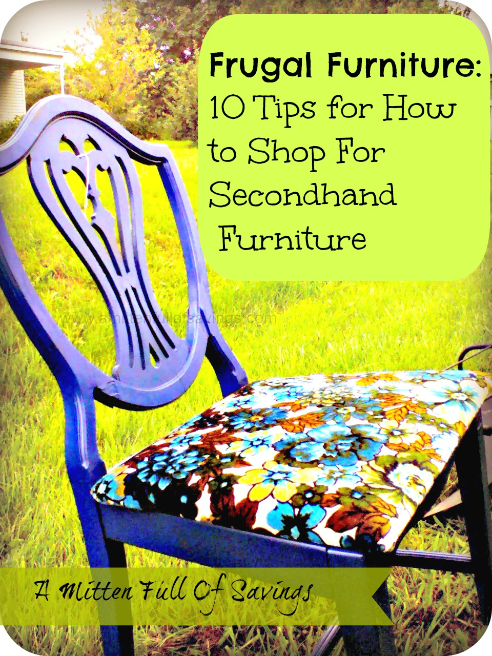 Frugal Furniture How to Shop for Secondhand Furniture A