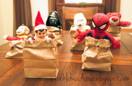 elfie sack race