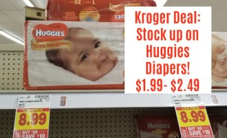 Kroger DOUBLE DIP Huggies Diaper DEAL $1.99-$2.49