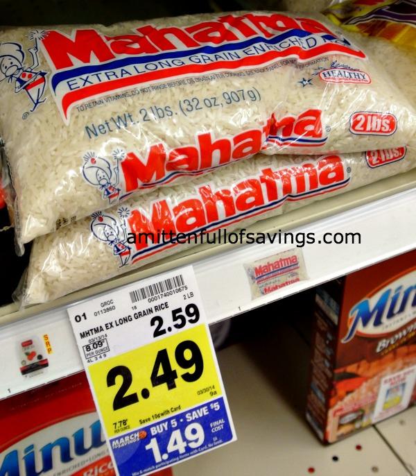 Kroger MEGA Sale Deal: Mahatma Rice Just  49 cents {stockup} - A