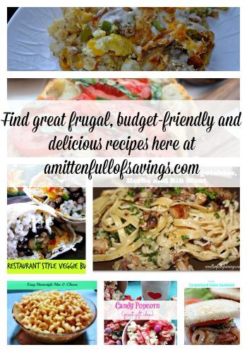frugal budget friendly recipes