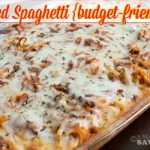 Baked Spaghetti {budget-friendly recipe}