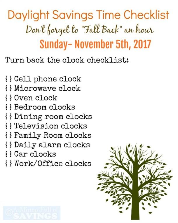 Daylight Savings Time Reminder