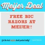 Meijer: FREE BIC Razors #stockup