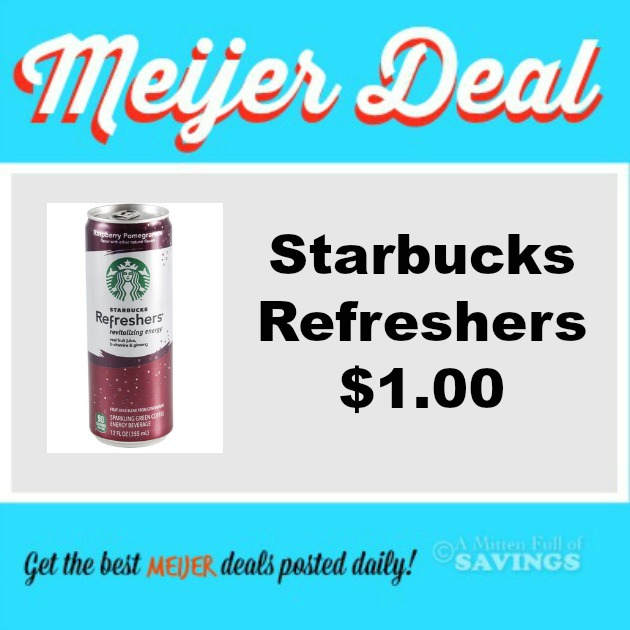 meijer deal starbucks refreshers just 100 w new coupon