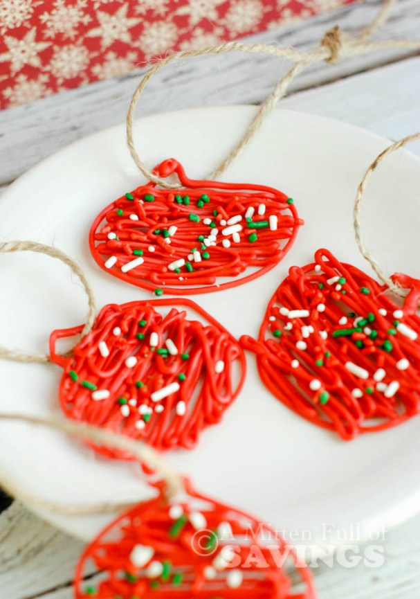 Edible Red Chocolate Candy Ornaments