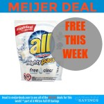 Meijer: FREE All laundry detergent this week!