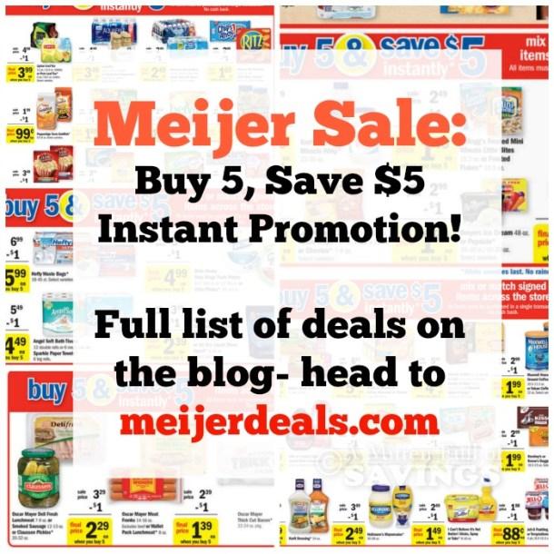 Meijer Buy 5 save 5 sale