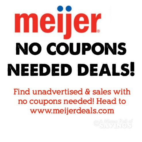 Meijer No Coupons Needed Deals