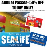 50% OFF Annual Passes for SEA LIFE & LEGOLAND Discovery Center {today only}