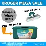 Kroger MEGA: Grab Pampers wipes .69- .99 cents #stockup