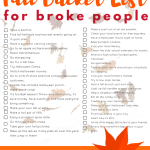 Fall Bucket List Ideas For Broke People + $100 Walmart Gift Card Giveaway