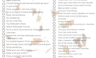 Fall Bucket List Ideas For Broke People + $100 Walmart Gift Card Giveaway