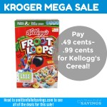 Kroger MEGA: Kellogg's Cereal .49 cents- .99 cents #stockup
