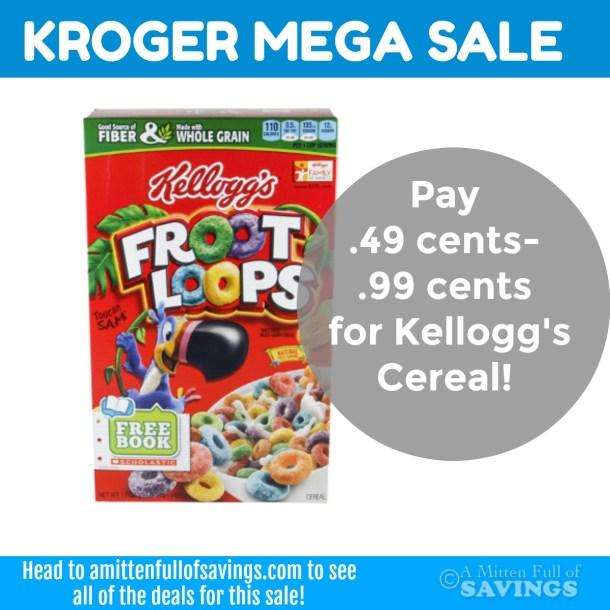 Kellogg's Cereal deal with Kroger MEGA sale