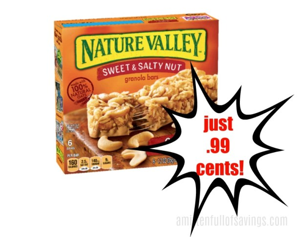 Meijer: Nature Valley Bars .99 cents this week!