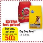 Meijer: Buy 1 Get 1 50% Dog Food {ALL BRANDS}
