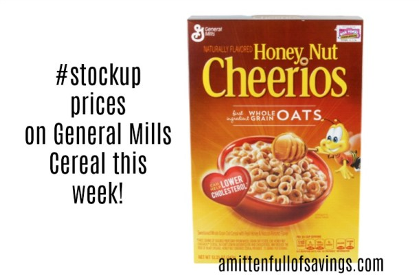 stockup prices on general mills cereal