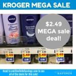 Kroger MEGA Event: Nivea Lotion + in-shower products $2.49