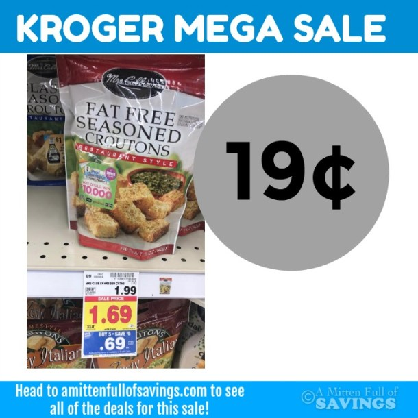 Kroger MEGA: Mrs Cubbisons Croutons 19 cents #stockup