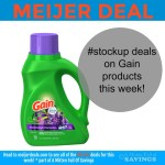 #stockup deals on Gain products at Meijer this week!