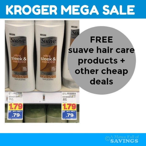 FREE Suave Hair Products with the Kroger MEGA Sale! #stockup