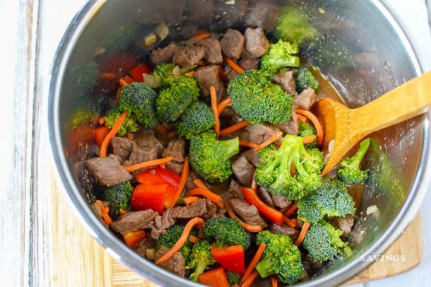 Ingredients for Teriyaki Beef Stir Fry
