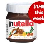 Target deal on Nutella