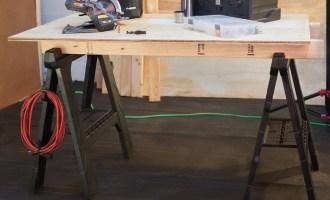 Home Depot Deal: 2-pack Husky Folding Sawhorses $19.88