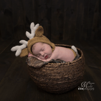 Newborn Deer Hat and Diaper Cover Photo Prop Pattern by AMKCrochet.com