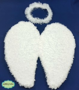 Newborn Angel Wings and Halo Photo Prop Pattern by AMKCrochet.com