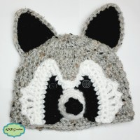 Newborn Raccoon Hat Photo Prop Pattern by AMKCrochet.com