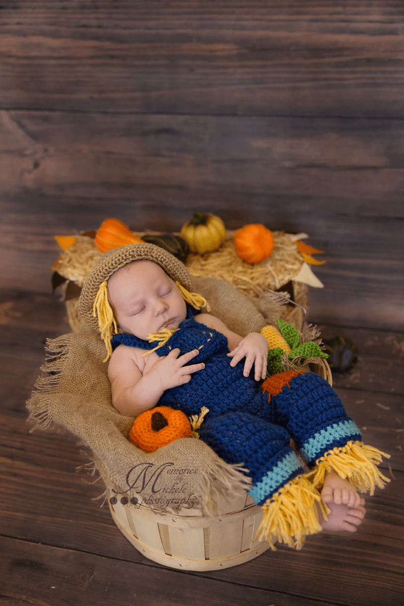 Newborn Crochet Scarecrow Photo Prop Pattern Amk Crochet